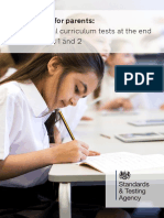 Information for Parents - 2018 National Curriculum Tests at the End of Key Stages 1 and 2