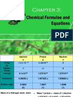 CHAPTER 3 Chemical Formulae and Equation