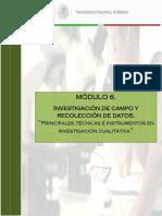 6.4 Tecnicas e Instrumentos Investigacion Cualitativa