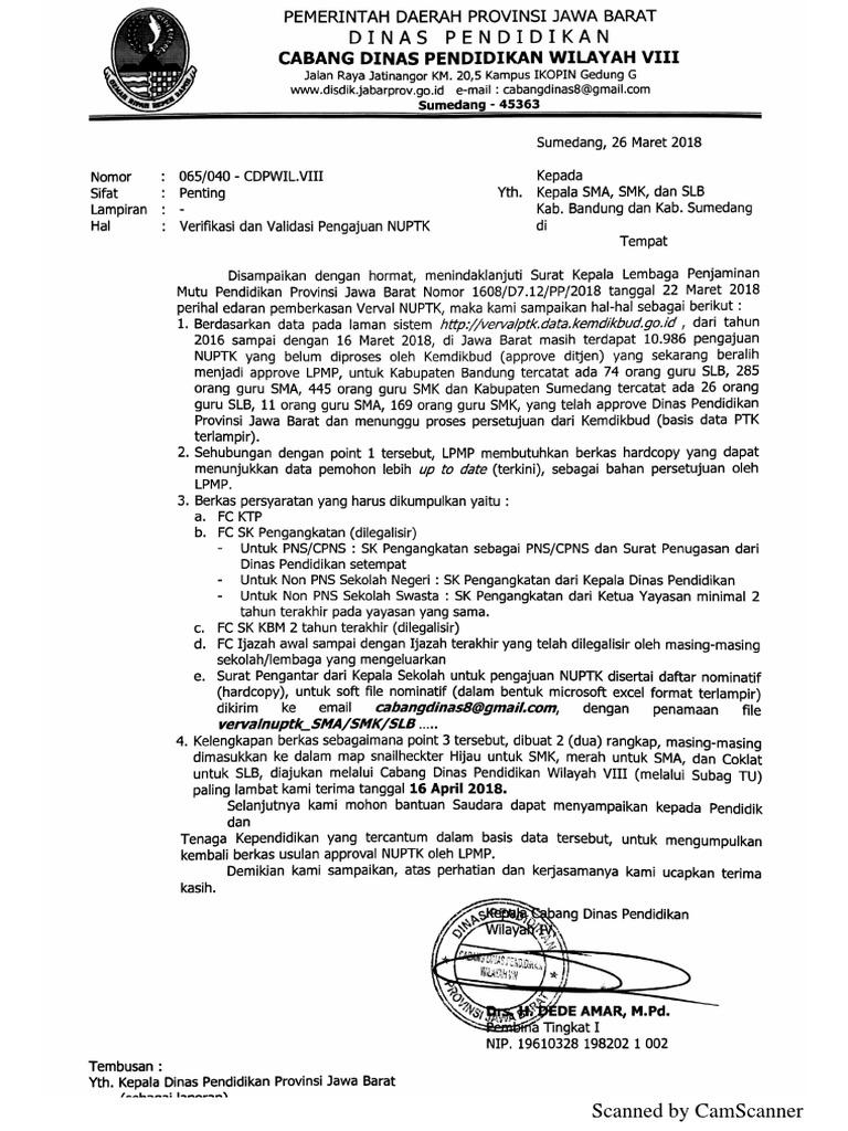 Kop Surat Dinas Pendidikan Provinsi Jawa Barat - Contoh ...