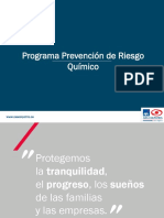 Programa Prevención Riesgo Químico. Final