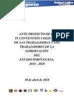 Ix Ante Proyecto de La Convencion Colectiva Del Estado Portuguesa 2 de Mayo