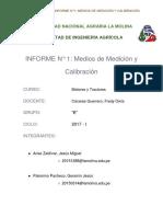 Informe Medios de Medición y Calibración