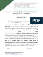 2.2 Cerere de Insriere in AFPR Pt Persoane Fizice