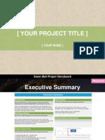 Green Belt Project Storyboard Template