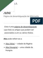 Aba – Wikipédia, A Enciclopédia Livre