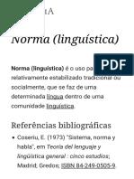 Norma (Linguística) – Wikipédia, A Enciclopédia Livre