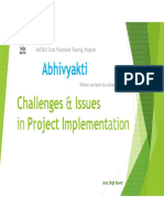Challenges & Issues in Project Implementation