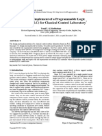 Design and Implement of a Programmable Logic Controller (PLC) for Classical Control Laboratory