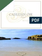 Caisleáin Óir Wedding Brochure