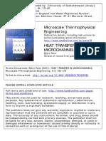 Heat Transfer in Microchannel