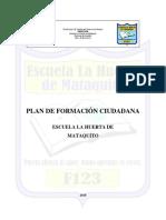 Plan de Formación Ciudadana 2018