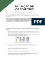 Conciliação de Dados Com Excel