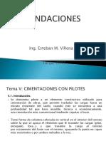 Presentacion Fundaciones I-2017 TEMA v PILOTES