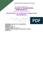 DBMS Lab Manual 7-2-2016
