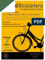 En el Bicicletero del CRAI... presentación del libro
