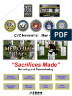 Cherokee Veteran Community Newsletter May 2018 Memorial Day