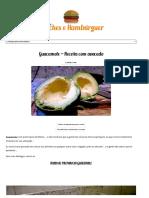 Guacamole - Receita Com Avocado - Receitas Lanches-Hambúrguer