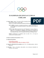 2 Circular Ix Olimpiada de Lenguas Clásicas Cádiz-2018