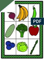 CARTAS de LOTERIA Para Trabajar Frutas y Verduras