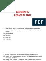 Debate 9º Ano geografia