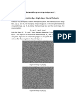 Assignment 1- Image Decryption by Single Layer Neural Network