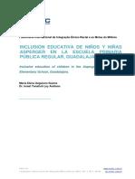 Inclusión Educativa de Niños y Niñas Asperger en La Escuela Primaria