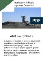 Basic Hydrocyclone Operation