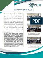 Security Bank Talk