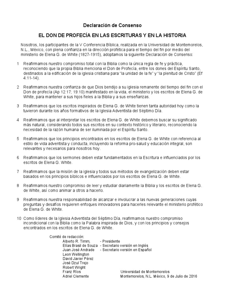 Declaración_de_consenso_B | Iglesia Adventista del Séptimo