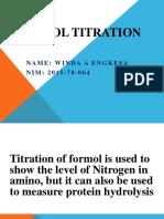 Formol Titration
