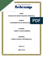 Niveles Investigacion Cientifica