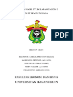 Laporan Studi Lapang Msdm 2 Di Pt Semen Tonasa by Kelompok 1 Rekrutmen Dan Seleksi (Revisi)