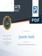brachial plexus certificate