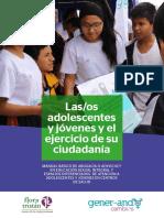 Las/os adolescentes y jóvenes y el ejercicio de su ciudadanía