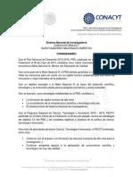 Convocatoria Investigadores Nacionales Emeritos 2017