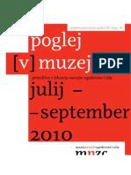 Prireditve v Muzeju novejše zgodovine Celje, julij - september 2010
