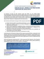 Modelo Atencion Salud 2018