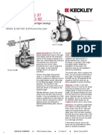Type 27 Float Globe Valve
