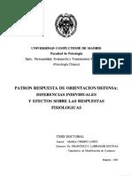 PATRON RESPUESTA DE ORIENTACION/DEFENSA