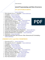 Object Oriented Programming and Data Structures - Lecture Notes, Study Material and Important Questions, Answers
