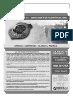Cespe 2014 Policia Federal Contador Prova