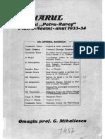 Anuarul Liceului Petru Rares_1933-1934