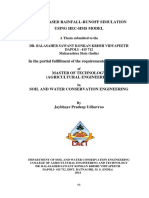 062 Event Based Rainfall-runoff Simulation Using Hec-hms Model (2014) (Jayb