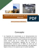 Depositos de Concentrados Exposicion Ing. Portilla