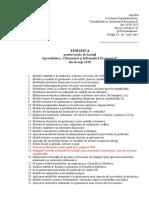 Tematica Teze de Licenta 2018 Cibernetica Si Informatica Economica