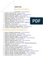 Highway Engineering - Lecture Notes, Study Material and Important Questions, Answers