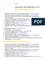Environmental Science and Engineering - Lecture Notes, Study Material and Important Questions, Answers