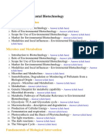 Environmental Biotechnology - Lecture Notes, Study Material and Important Questions, Answers