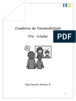 Cuaderno de Fonoaudiología. RE- KINDER